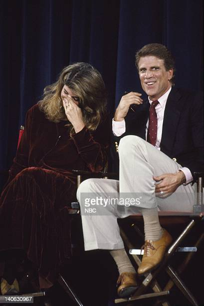 Aired 11/8/90 -- Pictured: Kirstie Alley and Ted Danson answer questions during the 200th Episode Celebration Special -- Photo by: Alice S. Hall/NBCU...