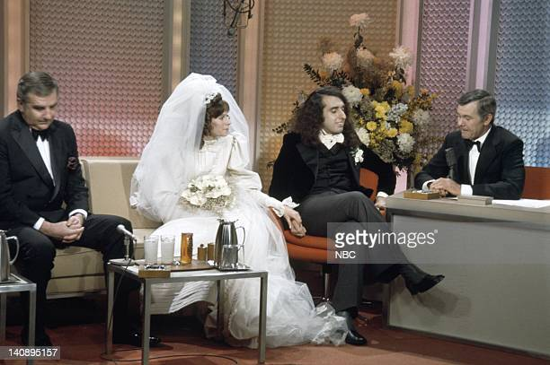 Cohost Ed McMahon Victoria May Miss Vicki Budinger Tiny Tim host Johnny Carson Photo by NBCU Photo Bank