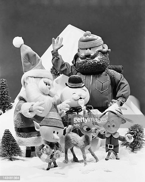 Santa Claus Sam the Snowman Yukon Cornelius elf Rudolph the RedNosed Reindeer Hermey the Elf