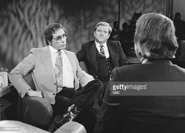Penthouse magazine publisher Bob Guccione televangelist Jerry Falwell host Tom Snyder Photo by NBCU Photo Bank