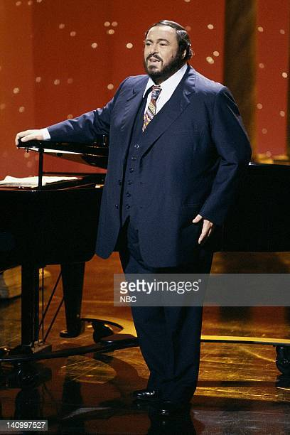 Aired 9/4/86 -- Pictured: Opera singer Luciano Pavarotti performs on September 4, 1986 -- Photo by: Alice S. Hall/NBCU Photo Bank