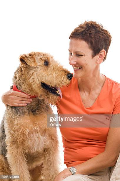 Airedale And Dog Owner Vt