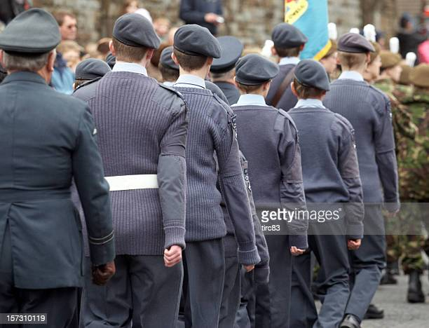 airforce cadets marching - british military stock pictures, royalty-free photos & images