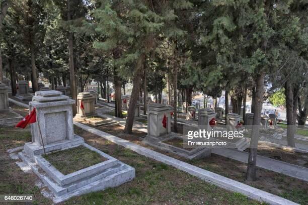 airforce cemetery at kadifekale,izmir. - 1939 stock-fotos und bilder