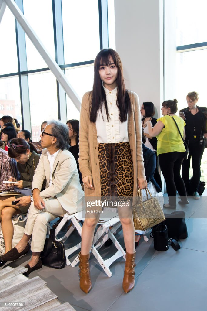 AiRi Matsui attends the Michael Kors runway show during New York Fashion Week at Spring Studios on September 13, 2017 in New York City.