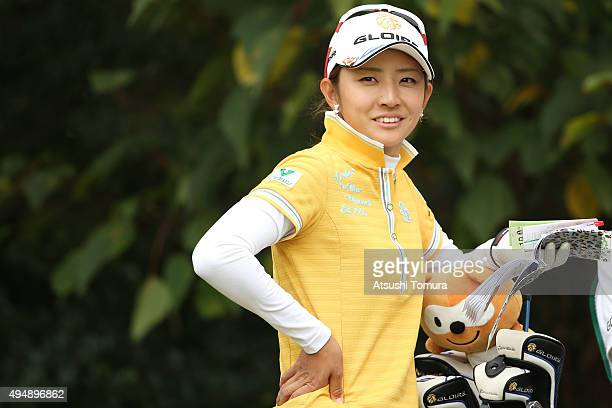 Airi Saito of Japan smiles during the first round of the Higuchi Hisako Ponta Ladies at the Musashigaoka Golf Course on October 30 2015 in Hanno Japan