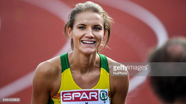 Airine Palsyte during the high jump final at the 23rd European Athletic Championships held in Amsterdam on the Thursday the 7th of July 2016