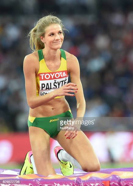 Airine Palsyte of Lithuania competes during the womens high jump Qualification during day seven of the 16th IAAF World Athletics Championships London...