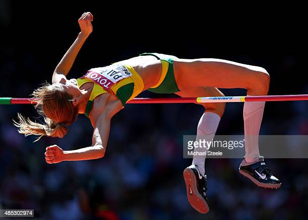 Airine Palsyte of Lithuania competes in the Women's High Jump qualification during day six of the 15th IAAF World Athletics Championships Beijing...