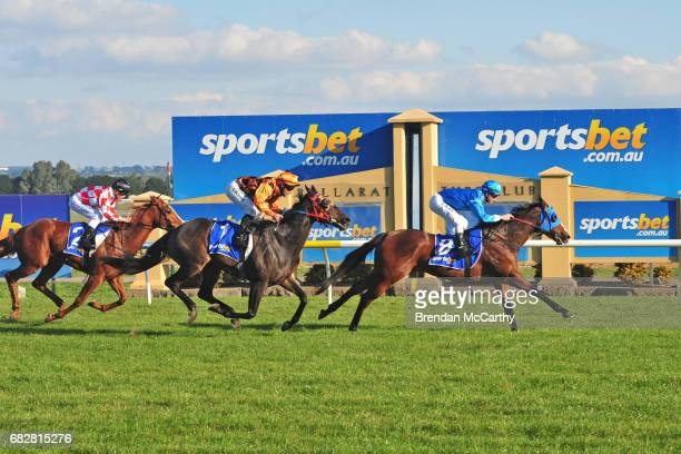 Airino ridden by Thomas Sadler wins the Craigs Royal Hotel BM64 Handicap at SportsbetBallarat Racecourse on May 14 2017 in Ballarat Australia