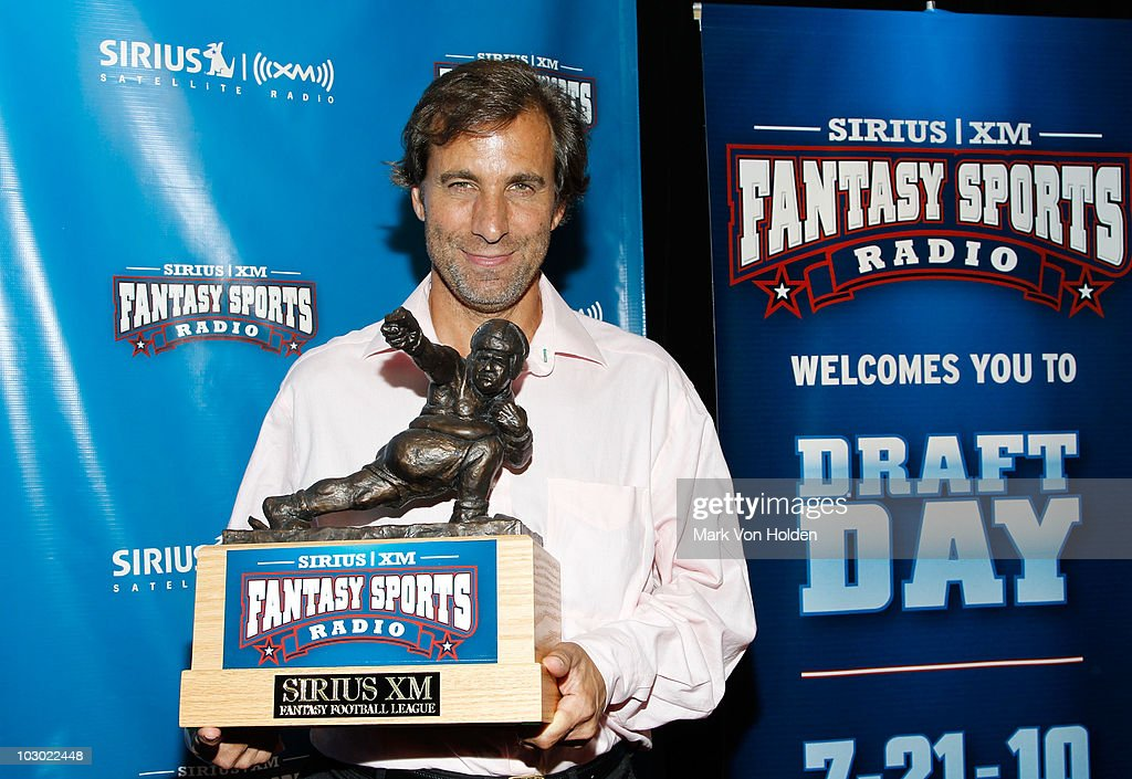Airius XM radio's Chris 'Mad Dog' Russo attends the SIRIUS XM Radio celebrity fantasy football draft at Hard Rock Cafe - Times Square on July 21, 2010 in New York City.