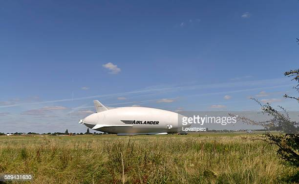 airlander 10 cocept  airship aircraft. - bedfordshire stock photos and pictures