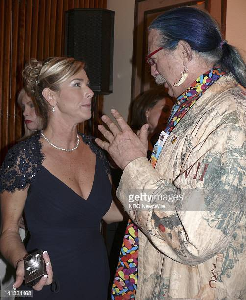 NBC NEWS Airline Ambassadors Global Compassion Ball Pictured Ruth Matranga Regional Director Airline Ambassador of Miami and Patch Adams attend the...