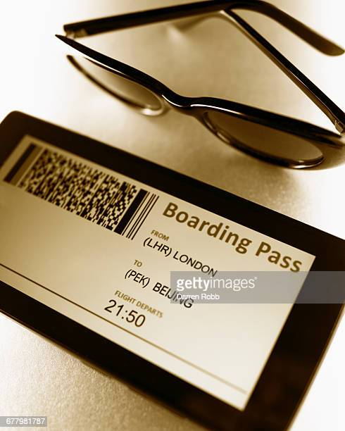 Airline Boarding Pass on mobile device screen