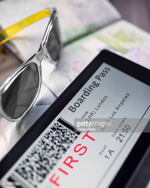 Airline Boarding Pass on Smartphone Screen