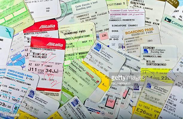Les cartes d'embarquement de compagnies aériennes collection