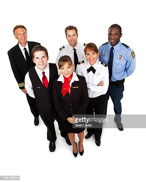 Airline: Cheerful Flight Crew From Above