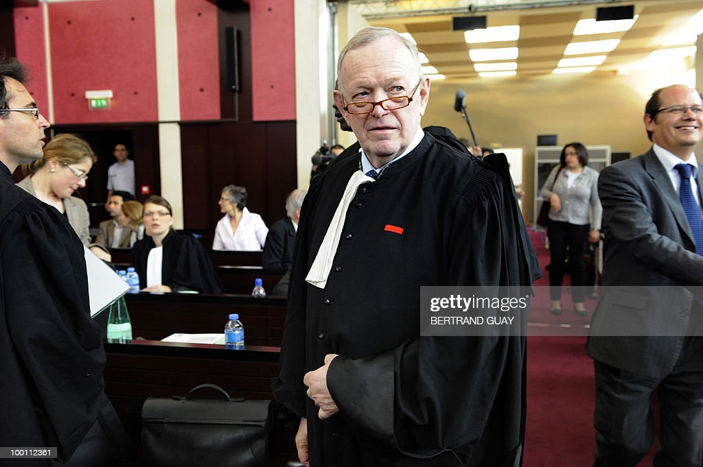 US airline Continental's lawyer, French Olivier Metzner is seen on May 21, 2010 at Pontoise courthouse, on the day of the closing speech for the prosecution during the trial to determine who was to blame for the 2000 Concorde disaster that killed 113 people, most of them German tourists, and four hotel workers on the ground. The trial opened with French engineers who built the Concorde in the dock alongside Continental Airlines mechanics accused of causing the crash that sounded the death knell for supersonic travel.