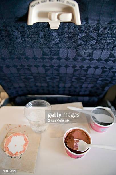 Airline food on tray