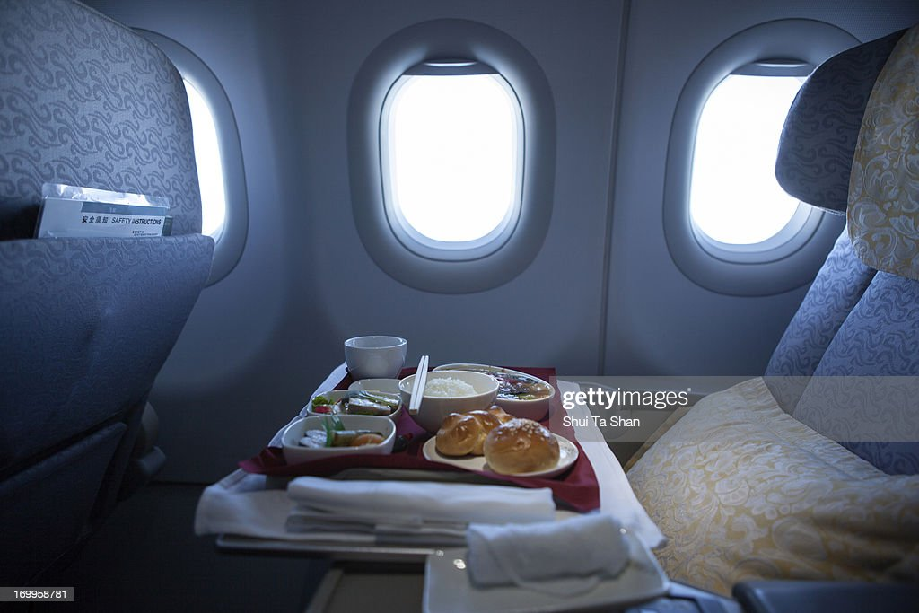 airline meal for business class : Stock Photo