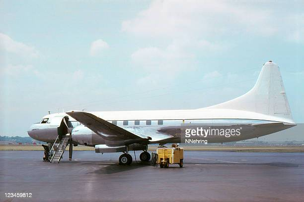airliner convair cv240 1965, retro - vintage airplane stock pictures, royalty-free photos & images