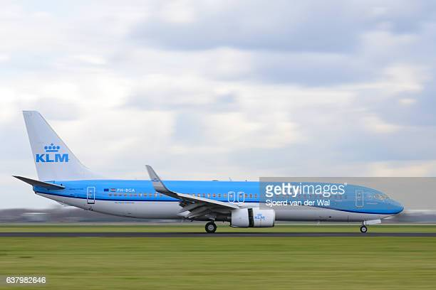 "klm airlines avion boeing 737 de - ""sjoerd van der wal"" photos et images de collection"