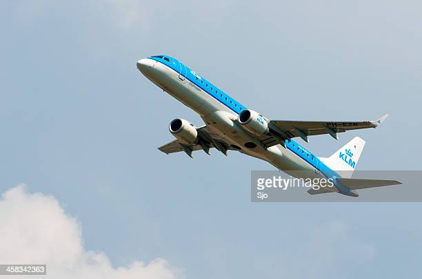 KLM airlines plane taking off