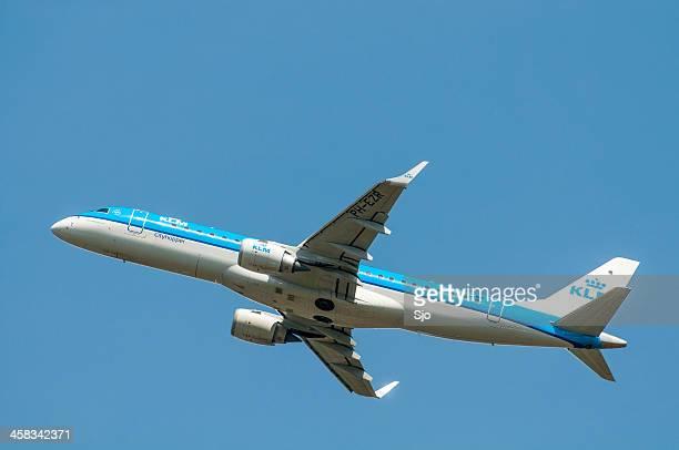 KLM 航空面の離陸する