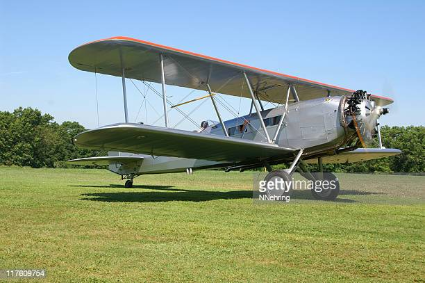 airmail biplane Boeing 40C, retro