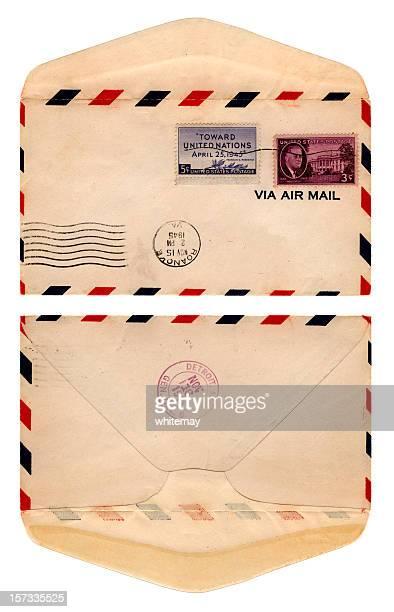 ocorreu envelope de eua, 1945 - marca postal - fotografias e filmes do acervo