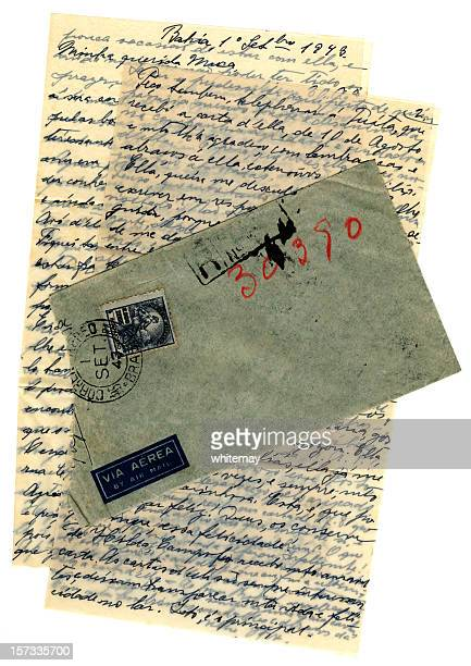airmail letter from brazil, 1943 - 1943 stock pictures, royalty-free photos & images