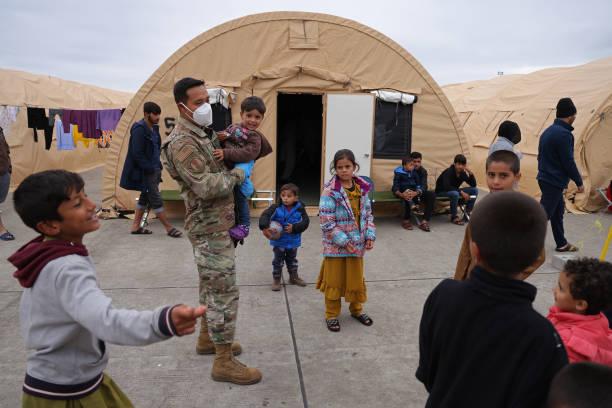 DEU: Afghan Evacuees At Ramstein Air Base Wait For Resettlement
