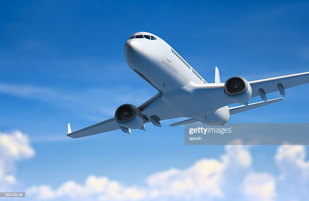 Airplane above clouds : Stock Photo