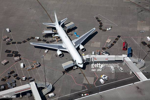 Airplane at the Gate, Aerial View