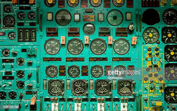 airplane cockpit dials - cockpit stock pictures, royalty-free photos & images
