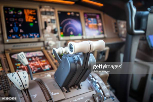 airplane cockpit - cockpit stock pictures, royalty-free photos & images