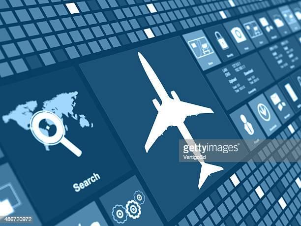 Flugzeug, Konzept der digitalen Hintergrund