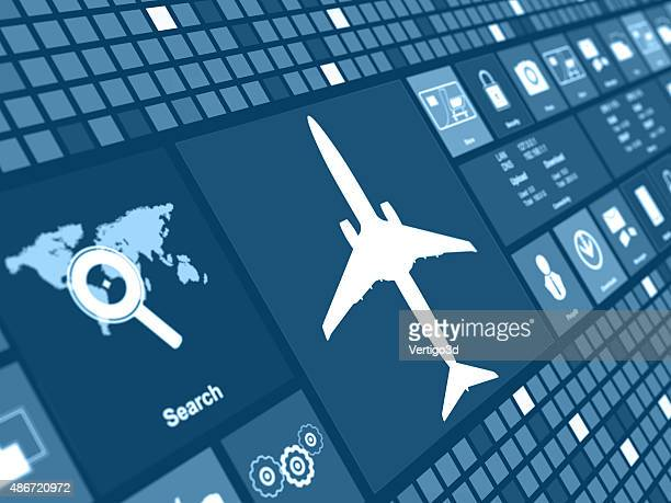 Airplane concept digital background