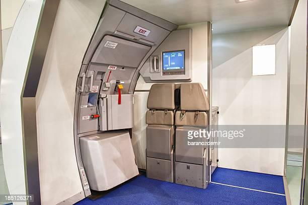 Airplane emergency exit door