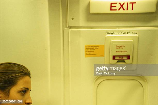 Airplane emergency exit door