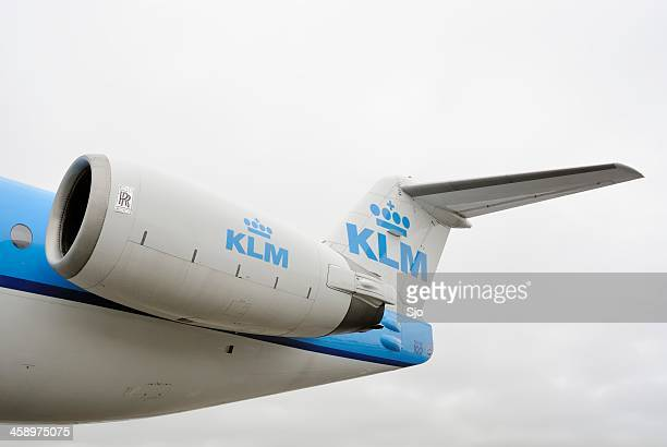 KLM airplane engine