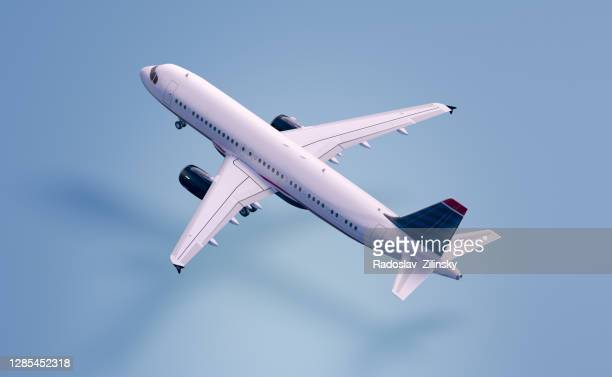 airplane flying - aeroplane stock pictures, royalty-free photos & images