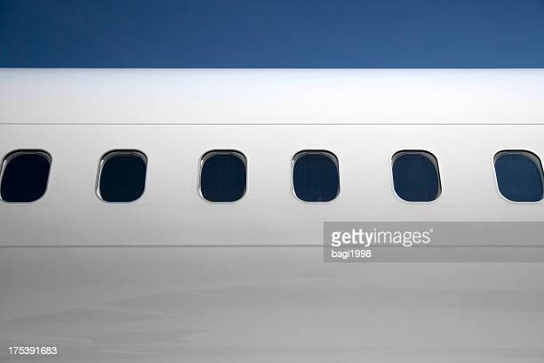 airplane flying - fuselage stock photos and pictures