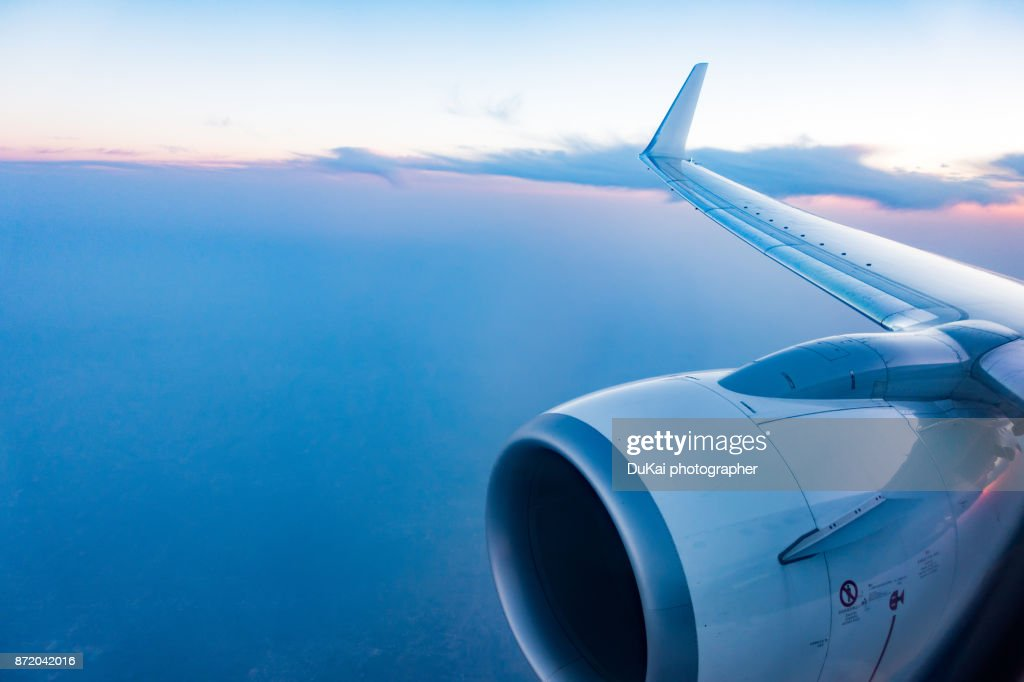 Airplane in Flight : Stock Photo