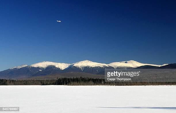 airplane in the mountains - great pond (new hampshire) stock photos and pictures