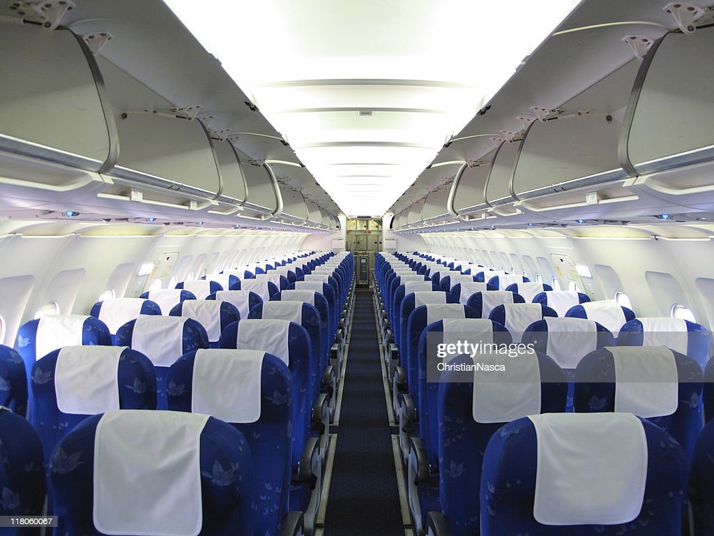 airplane interior : Stock Photo