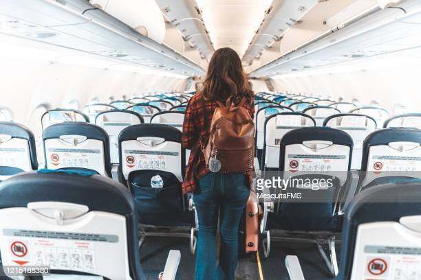 airplane interior - flying stock pictures, royalty-free photos & images