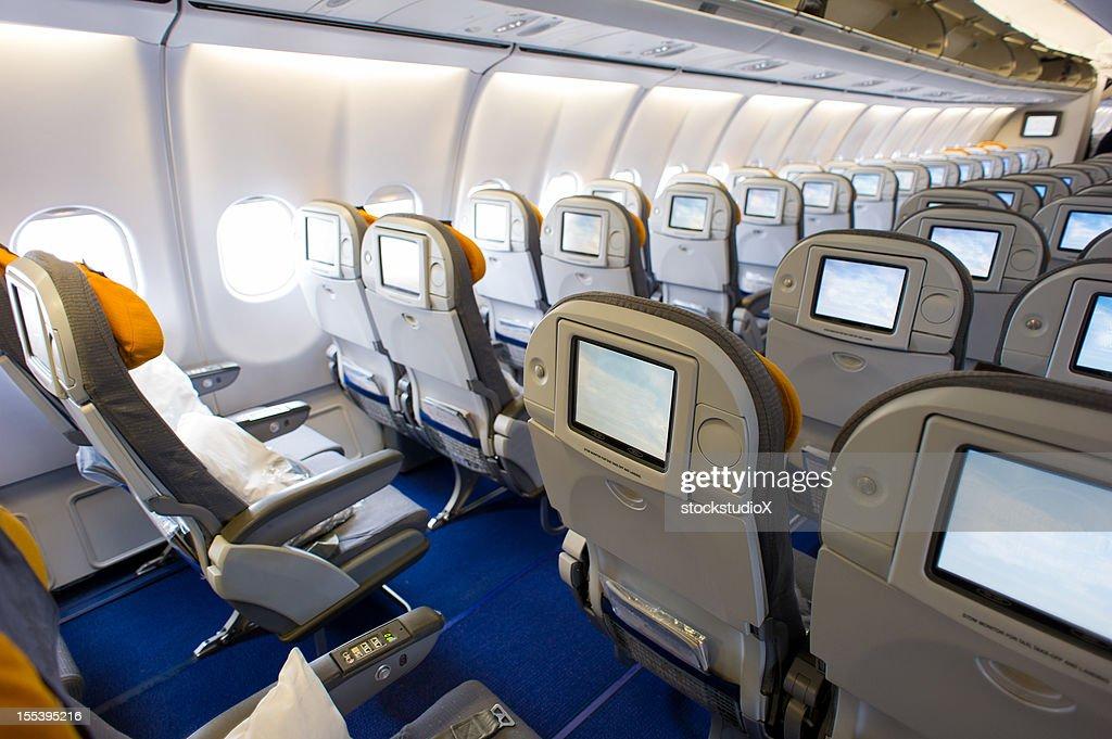 Airplane Interior : Stock Photo