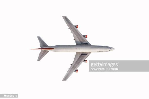 airplane is on a white background./clipping path - aereo foto e immagini stock