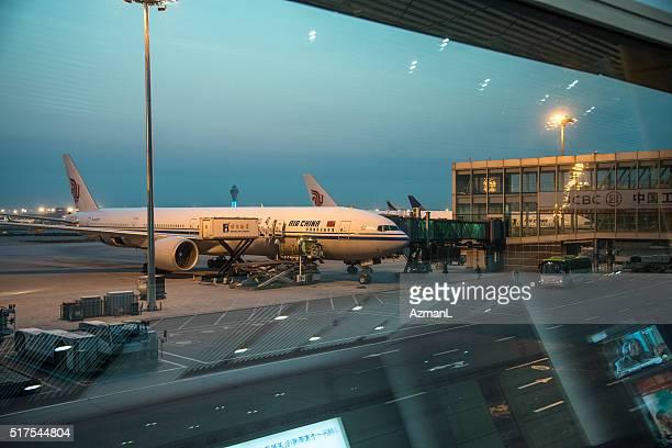 Airplane on Beijing International Airport
